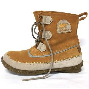 b885e90e9c94a SOREL Joplin II Caramel Hiking Moccasins Boots